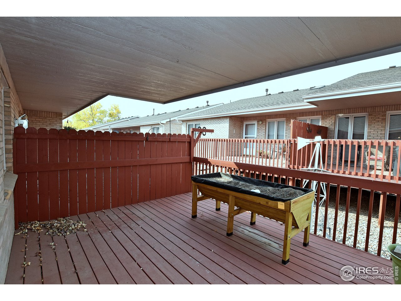 Back deck is covered