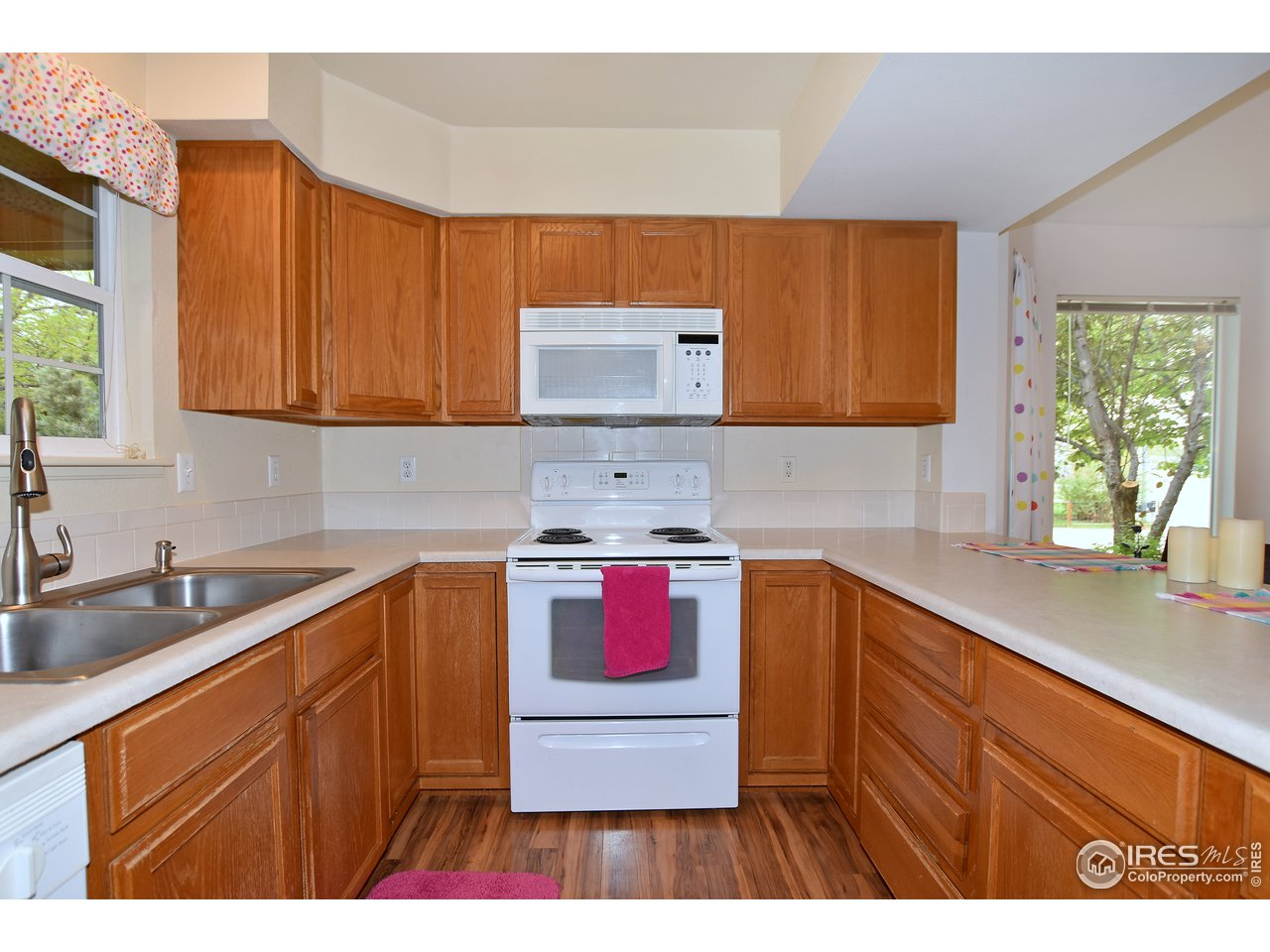 Kitchen with ample storage.