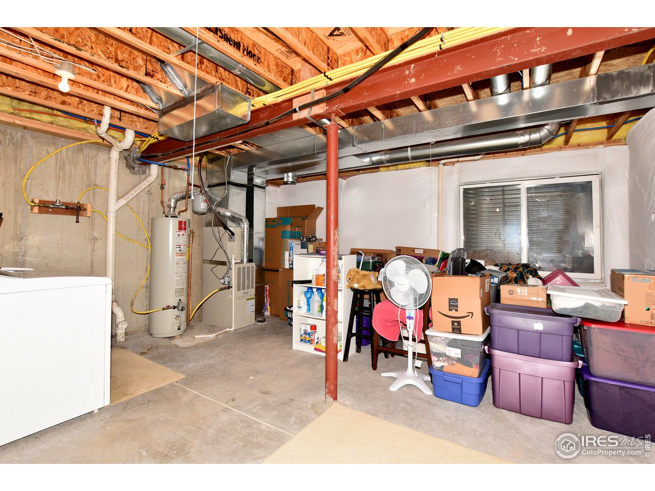 Laundry and mechanical in basement