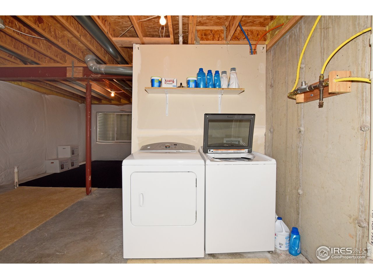 Clothes washer and dryer are included.