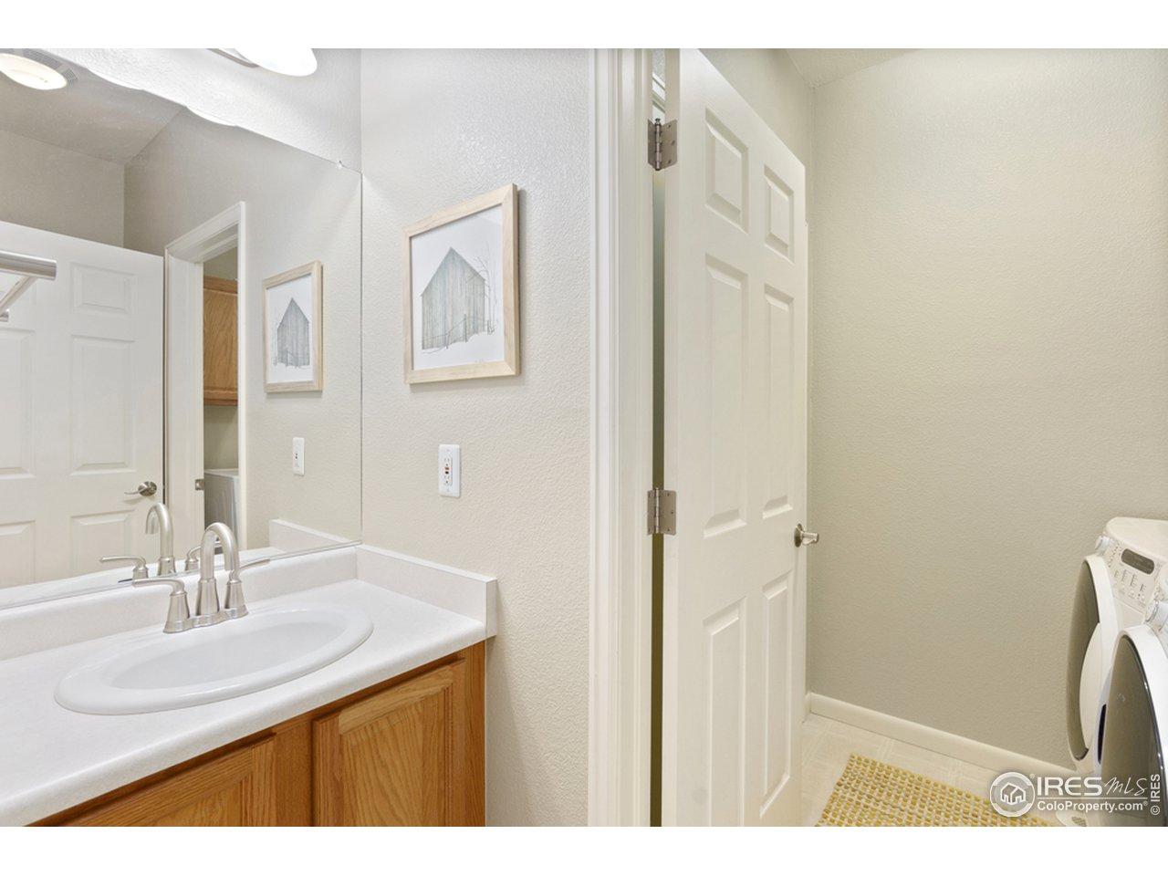 Powder bathroom and laundry