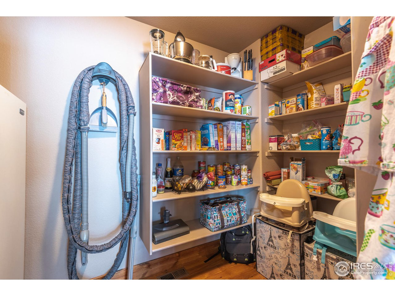 Enviable Walk-in pantry with room for freezer!