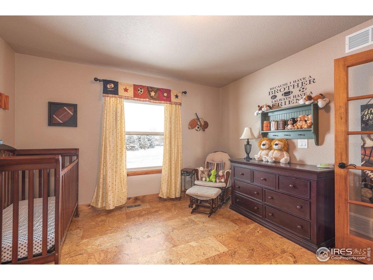 2nd bedroom w/cork floor