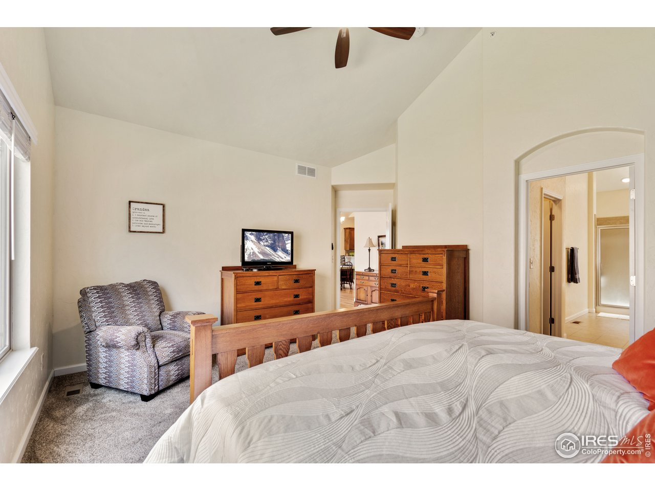 vaulted ceilings create a beautiful space