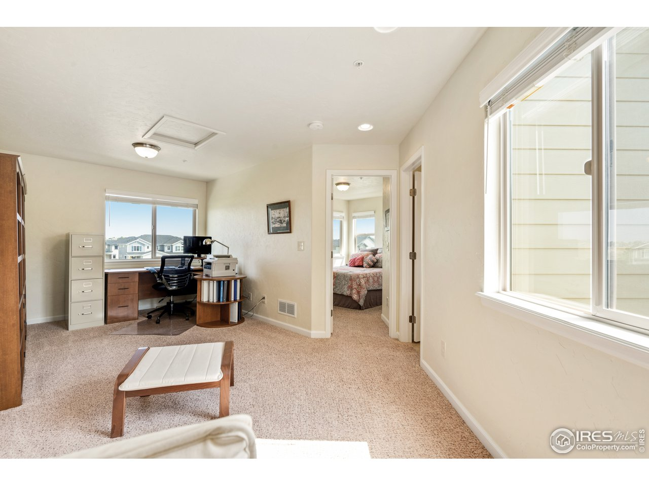 Upstairs boasts a beautiful loft , great office space!