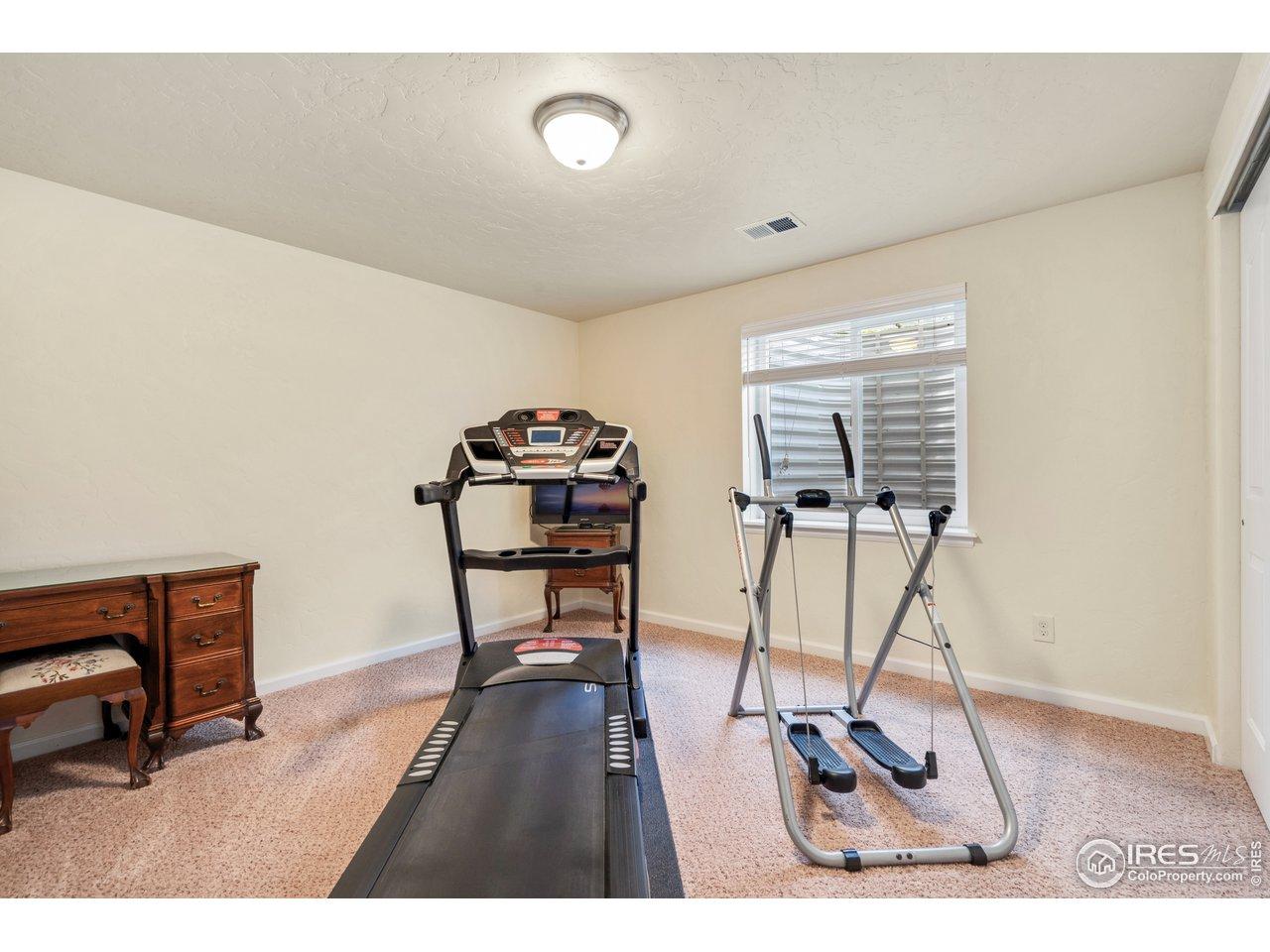 large basement bedroom
