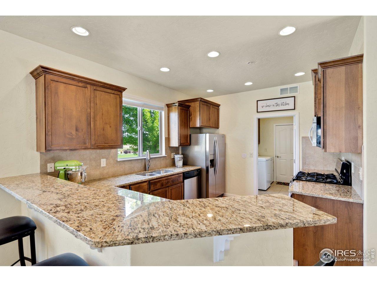 granite countertops and alder cabinets