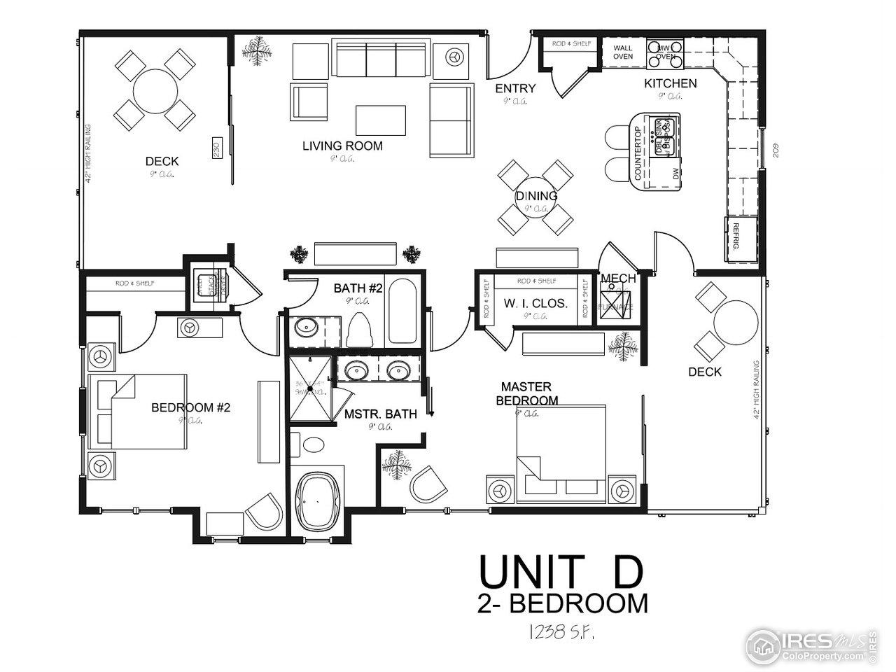 Oasisi 2 Bedroom Unit D Floor Plan