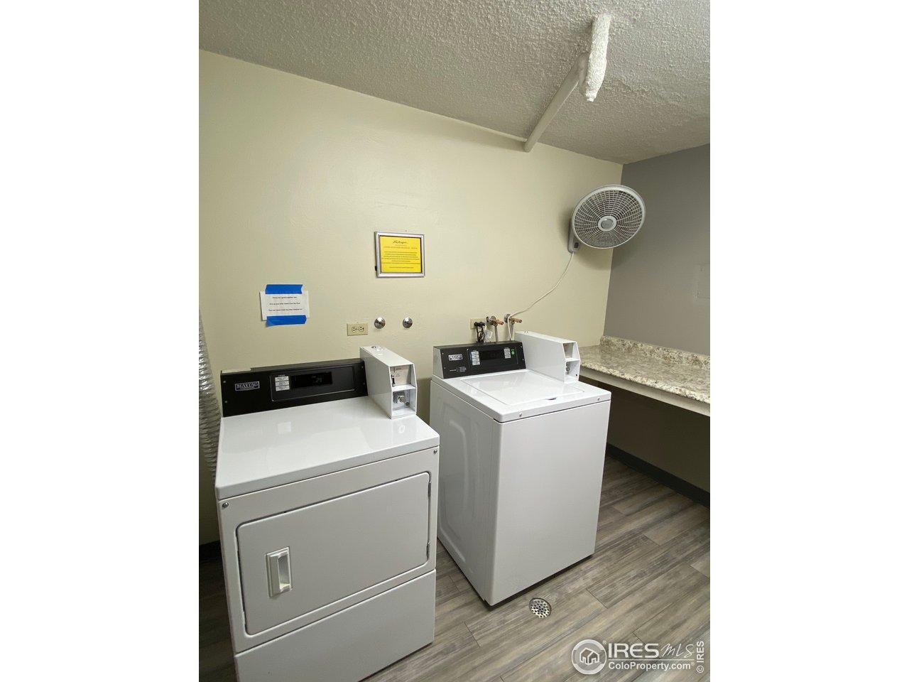 laundry on each floor