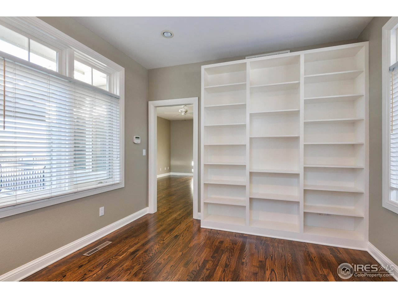 Built in Book Shelves in Private Sitting Room