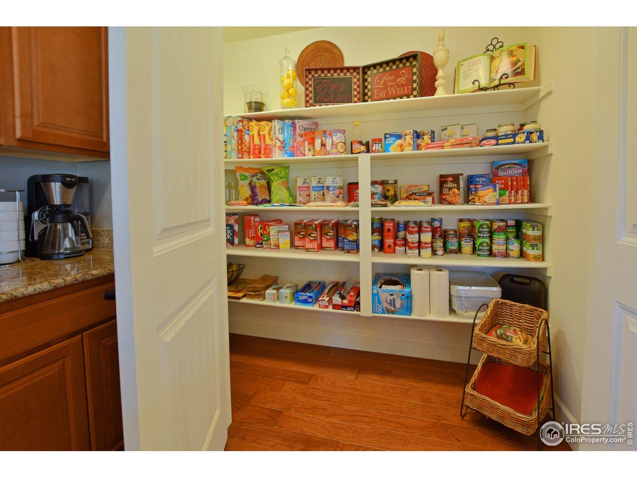 Large walk in pantry