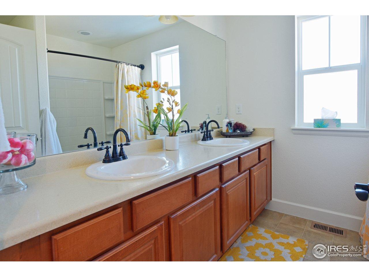 Main bath has double sink