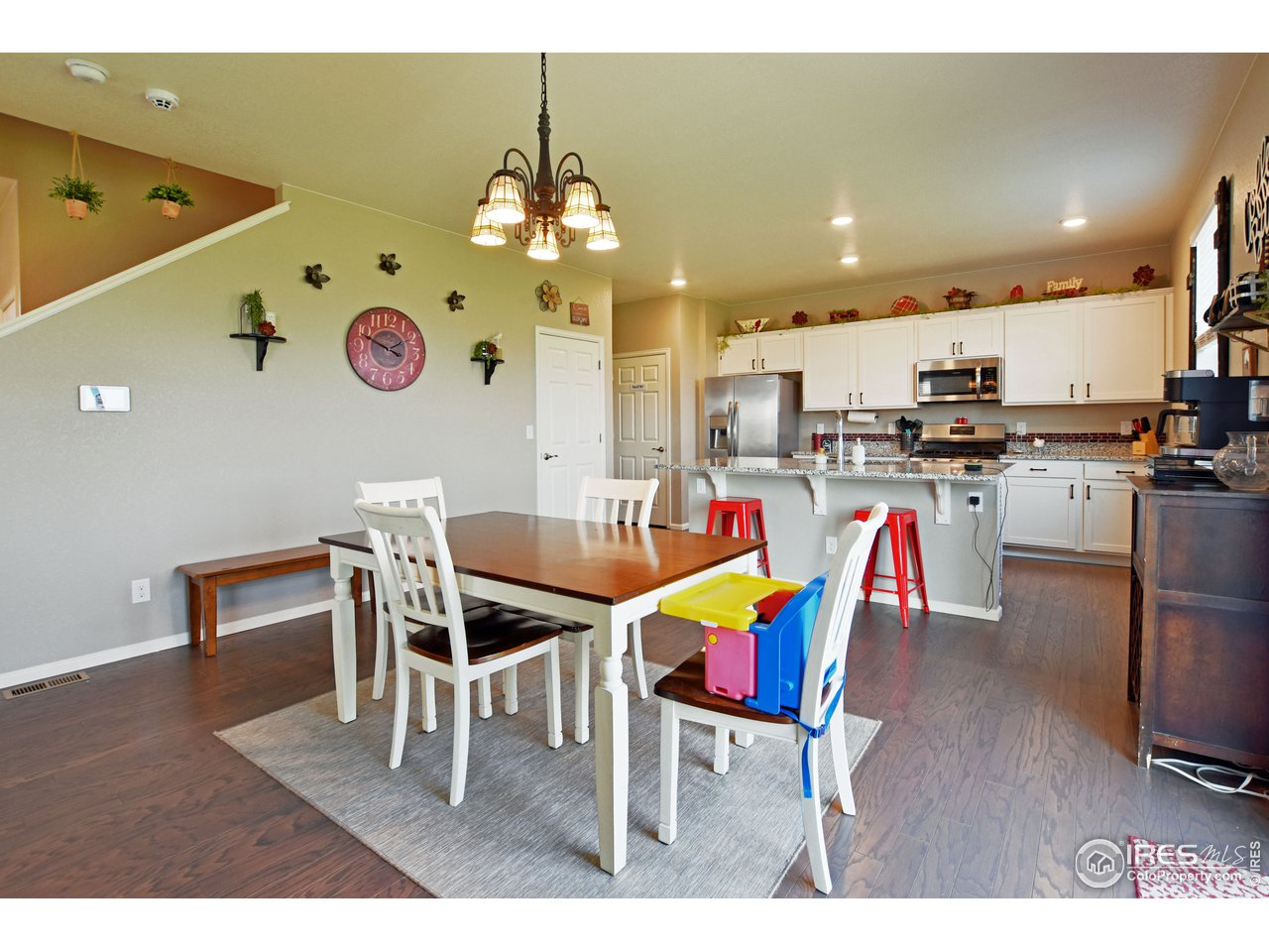 Dining open to kitchen