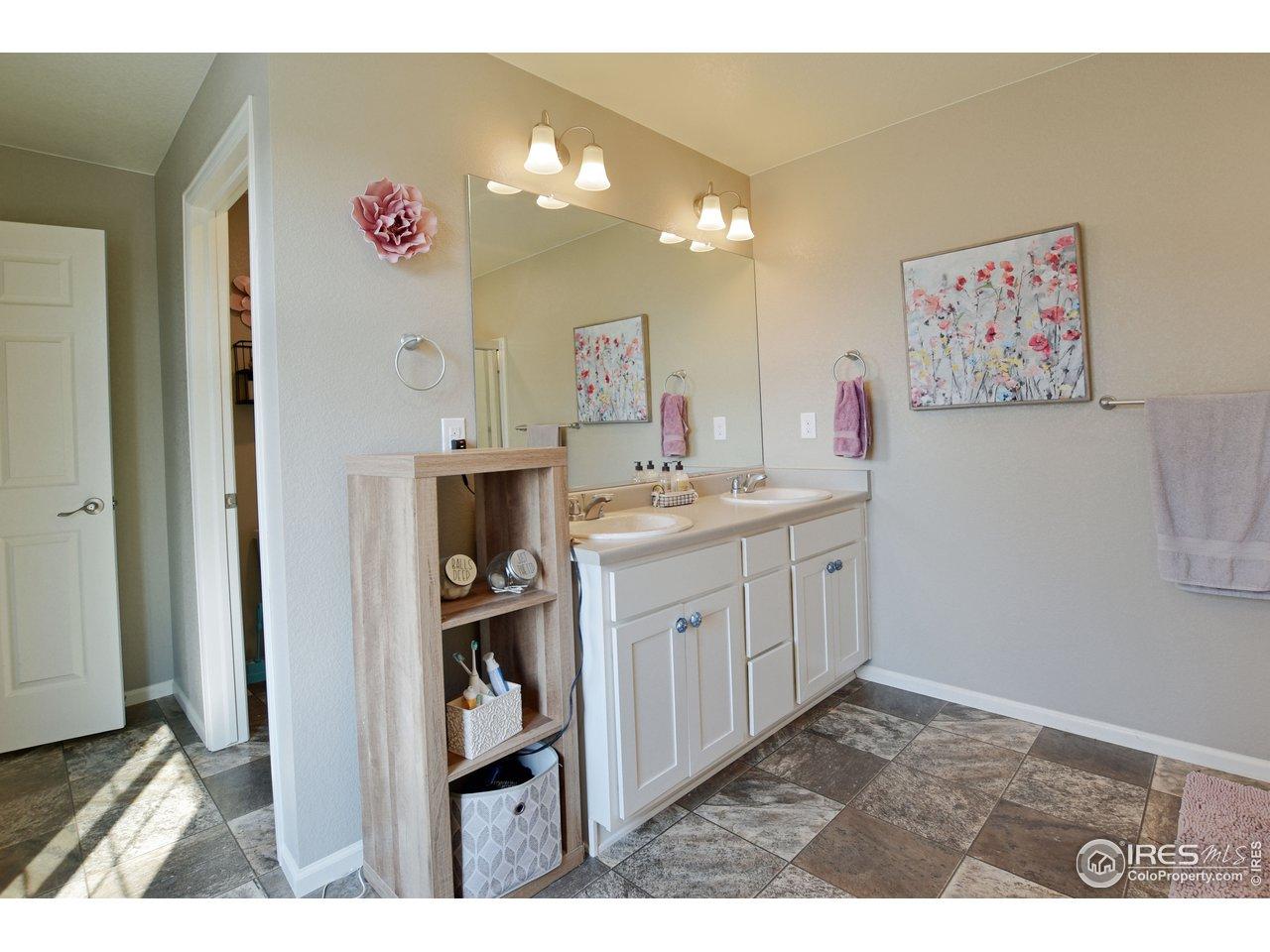 Primary bath double sink