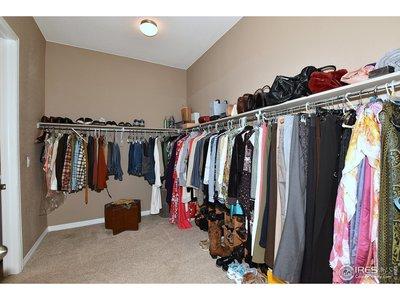 Owner's huge walk-in closet.