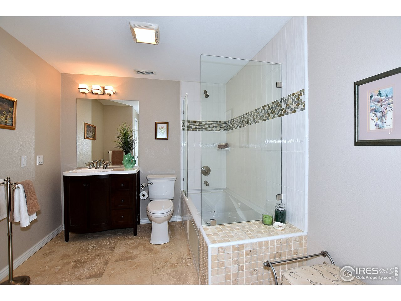 Basement bath with jetted tub.