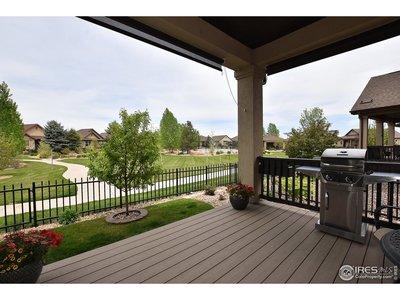Wrought iron style fenced yard.