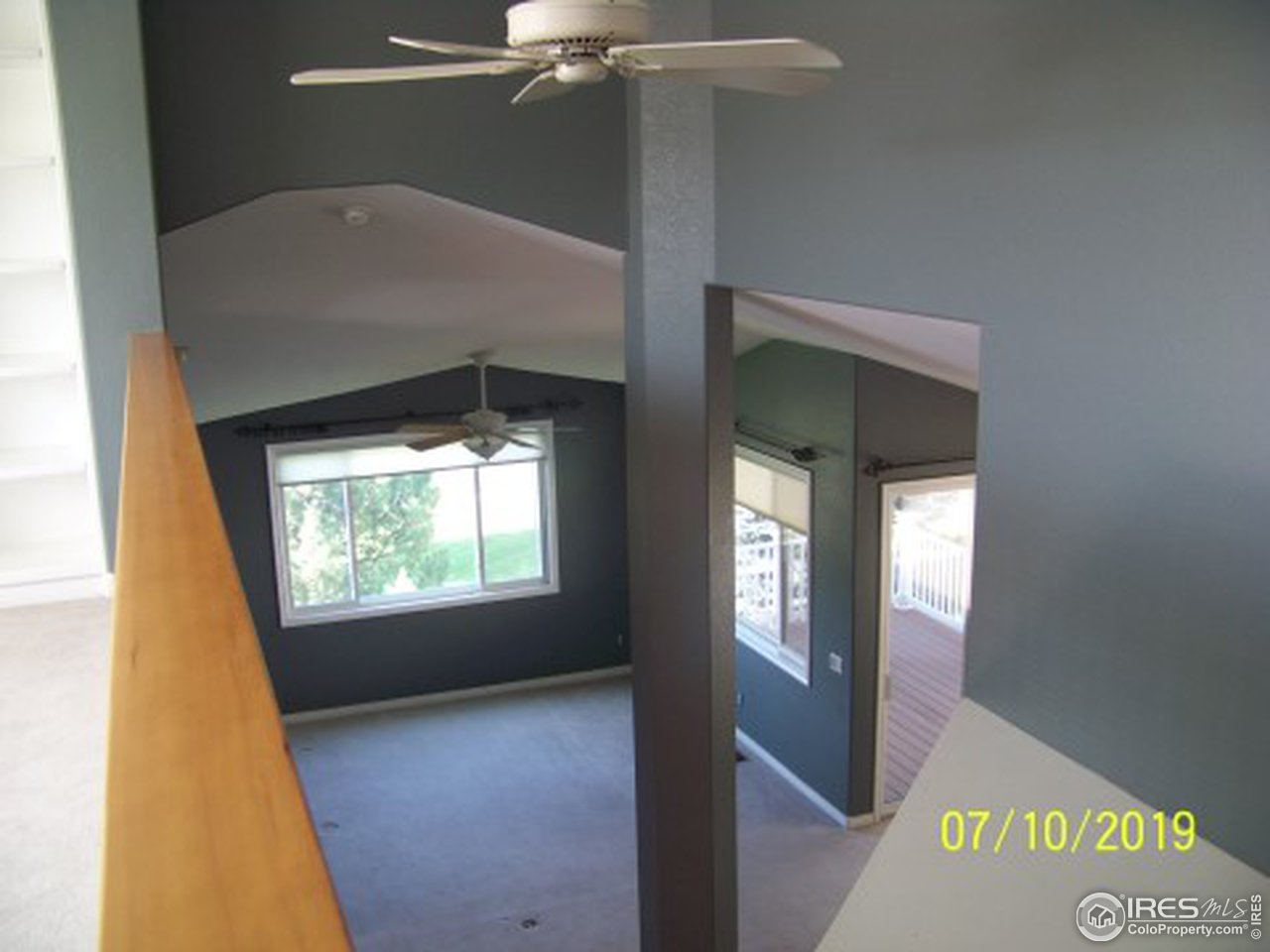 Loft Office with Shelves