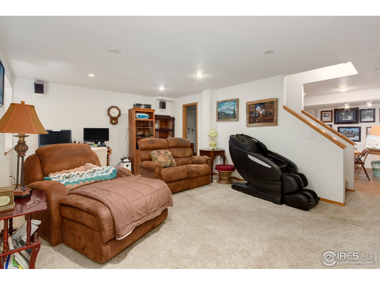 Basement Family/Media Room With Master Bedroom Option