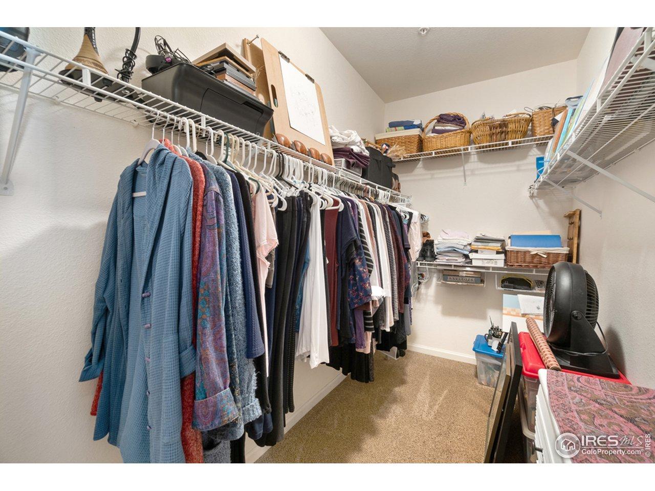 Large walk-in closet.
