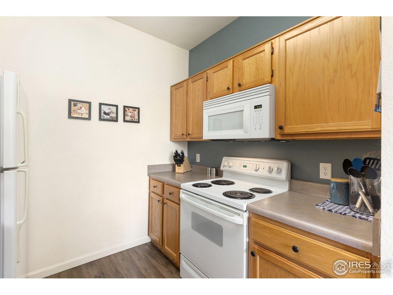 Efficient, spacious kitchen.