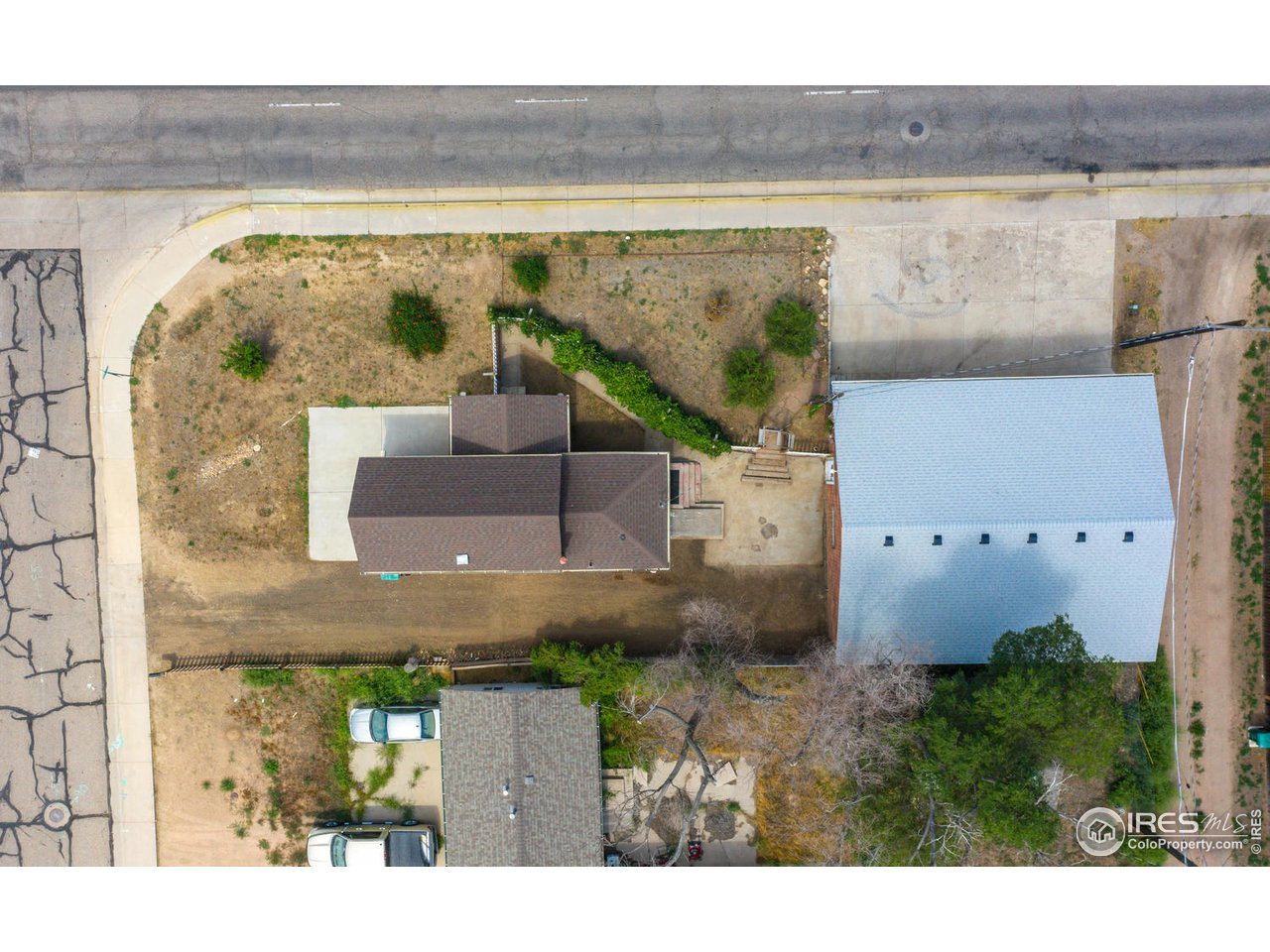 Overhead view of lot