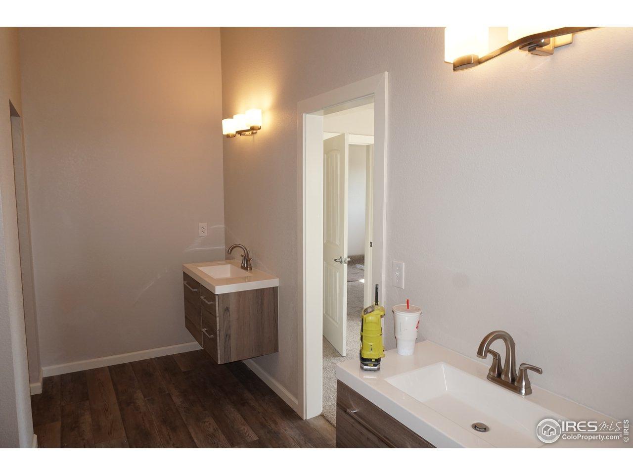 Master Bath with 2 Vanities
