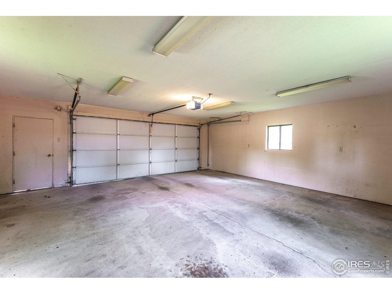 Finished 2 car garage