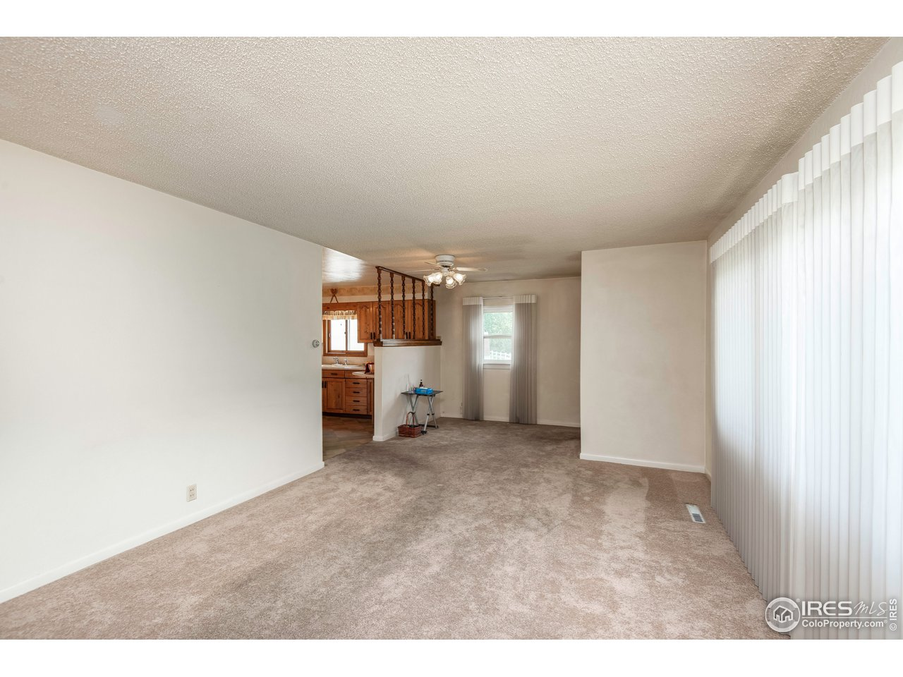 Entry way and living room