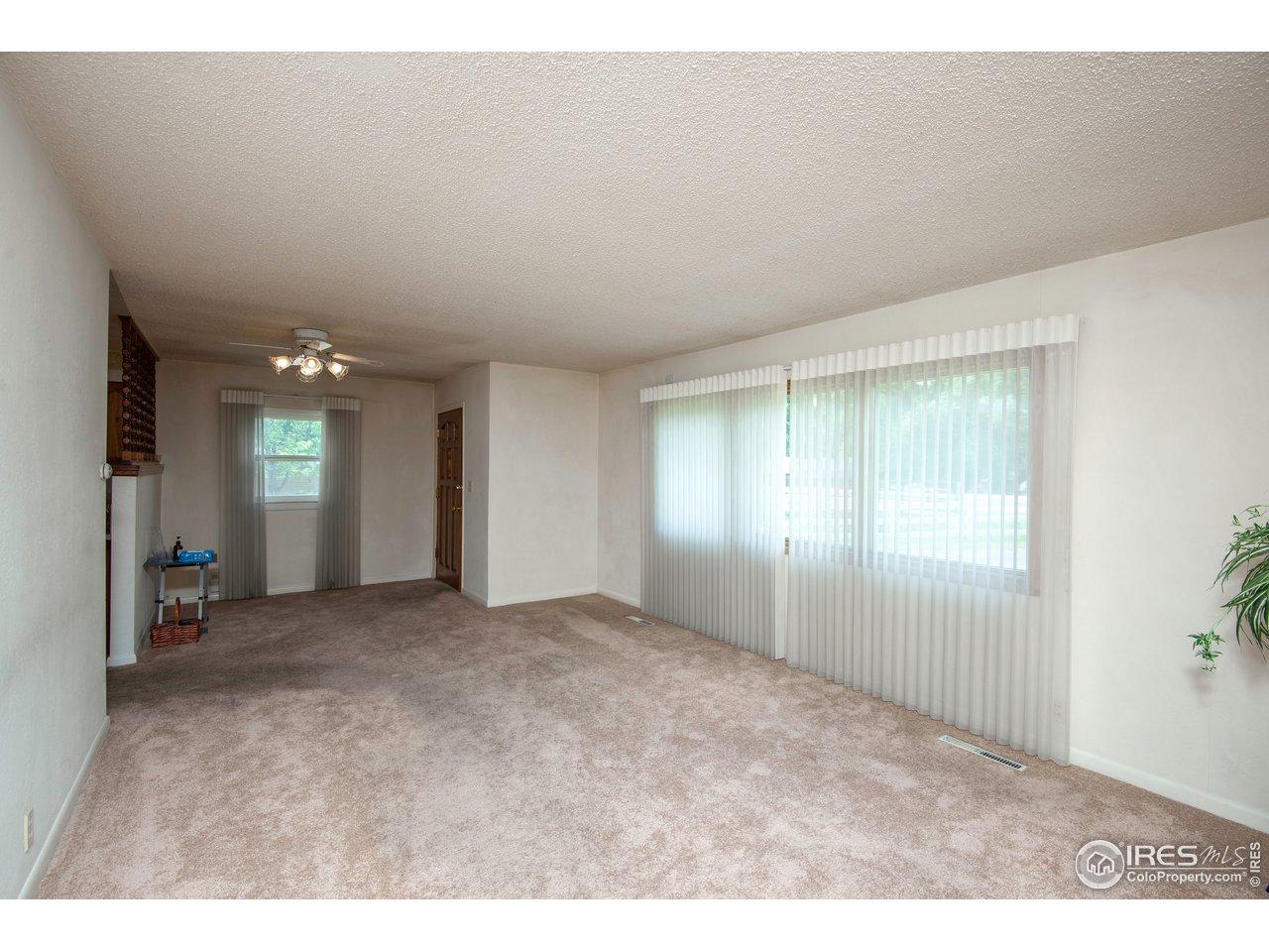 Bright, open living room