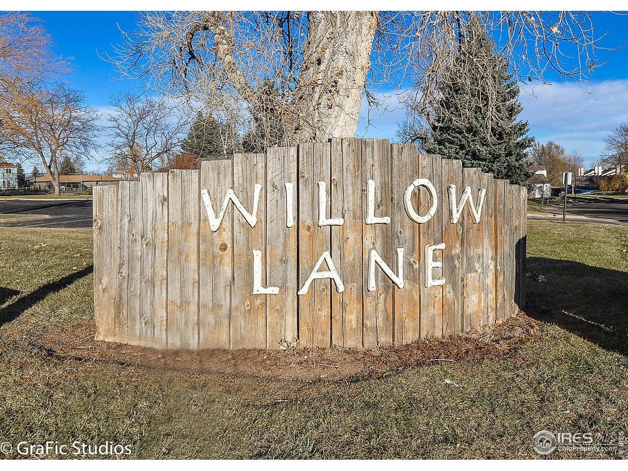 Located in Willow Lane subdivision