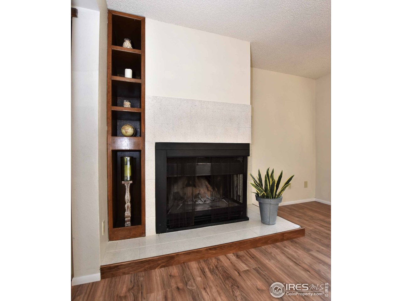 Built-ins by fireplace