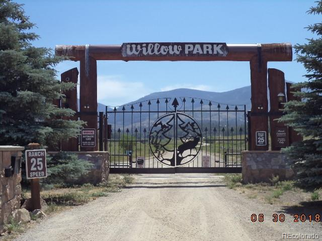 Gated entrance to the private community