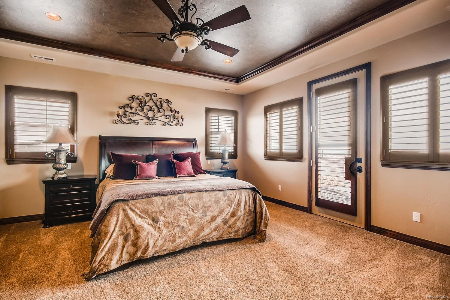 Master Bedroom with Balcony and Walk In Closet