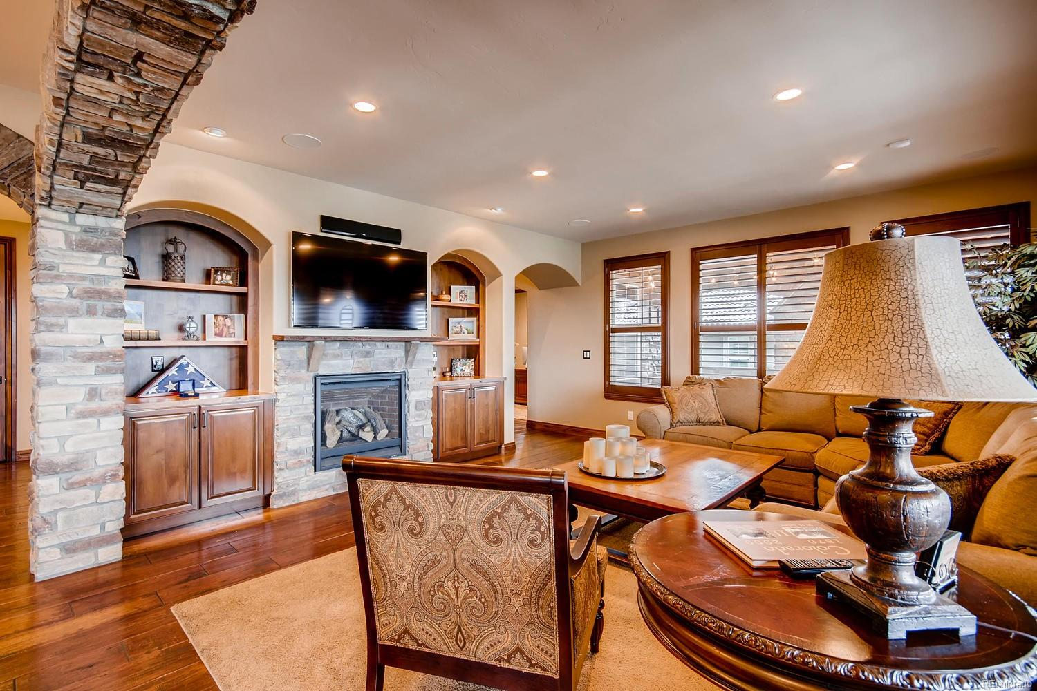 Family Room off the Kitchen