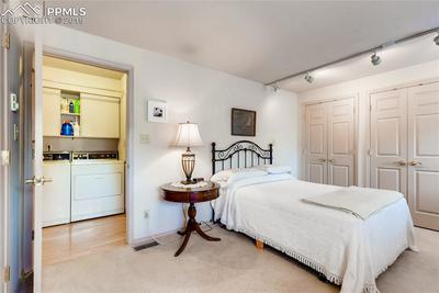 Amazing MAIN LEVEL bedroom with wall 'o closet plus bath & laundry
