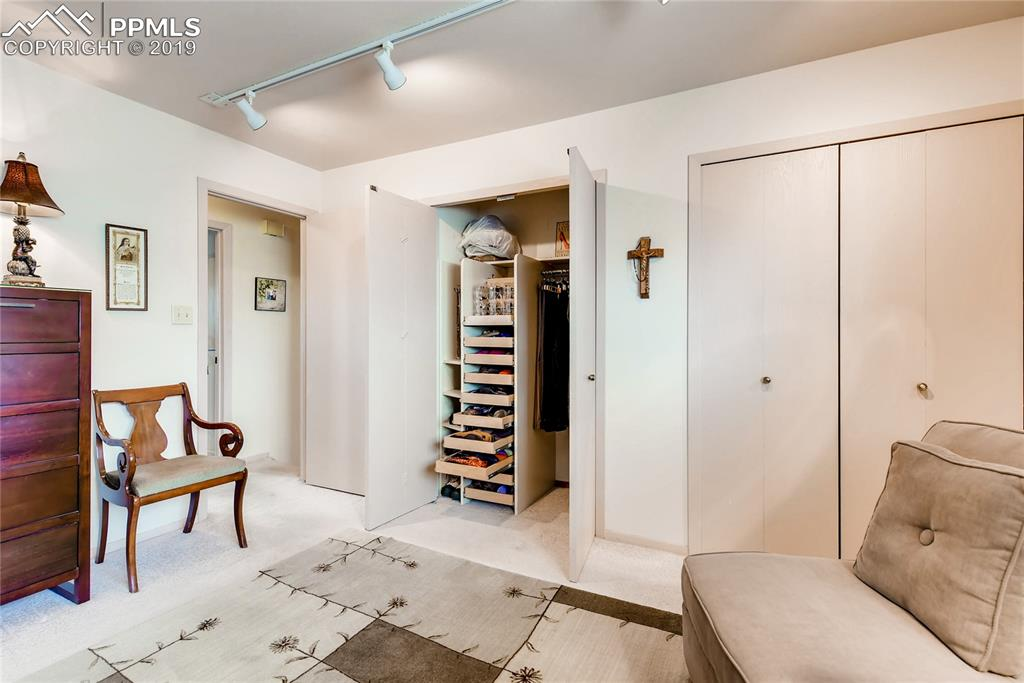 Cool shoe storage and excellent lighting in Master bedroom