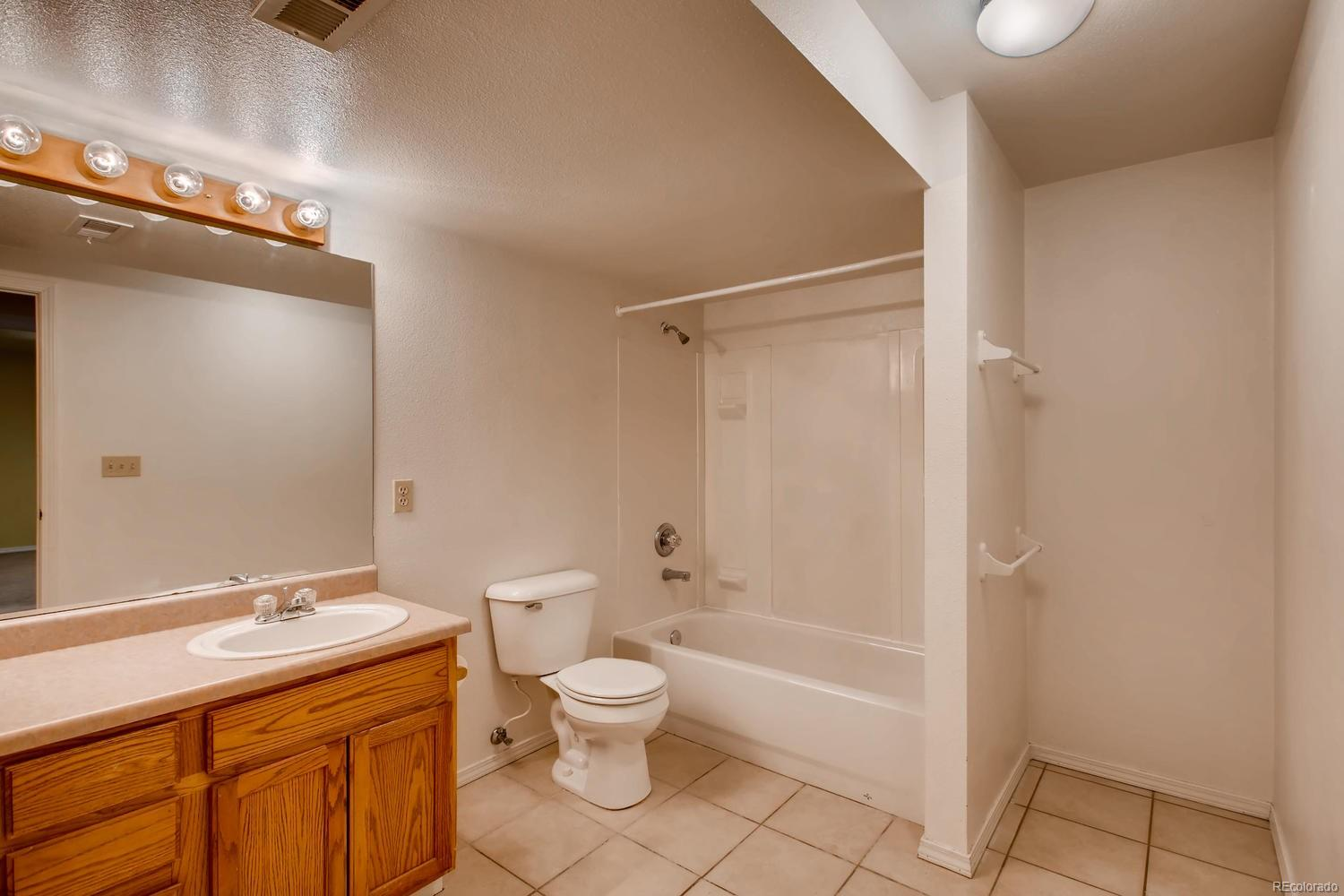 Large full bathroom in the basement