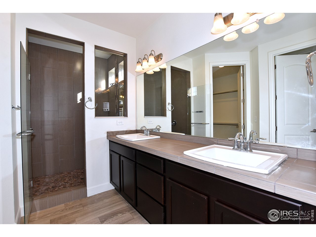 Custom master bathroom walk in shower