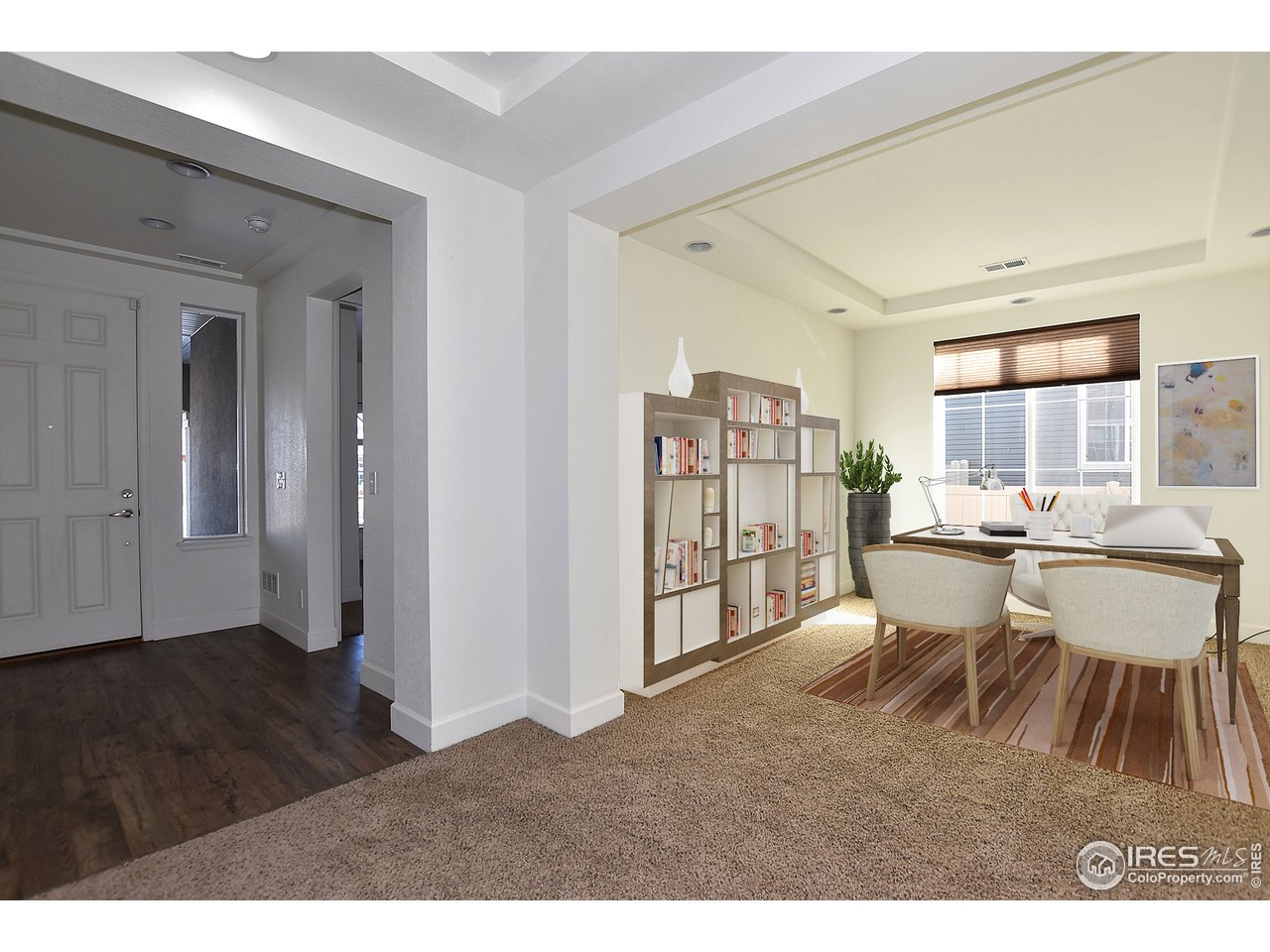 Main level office/study/den open to great room