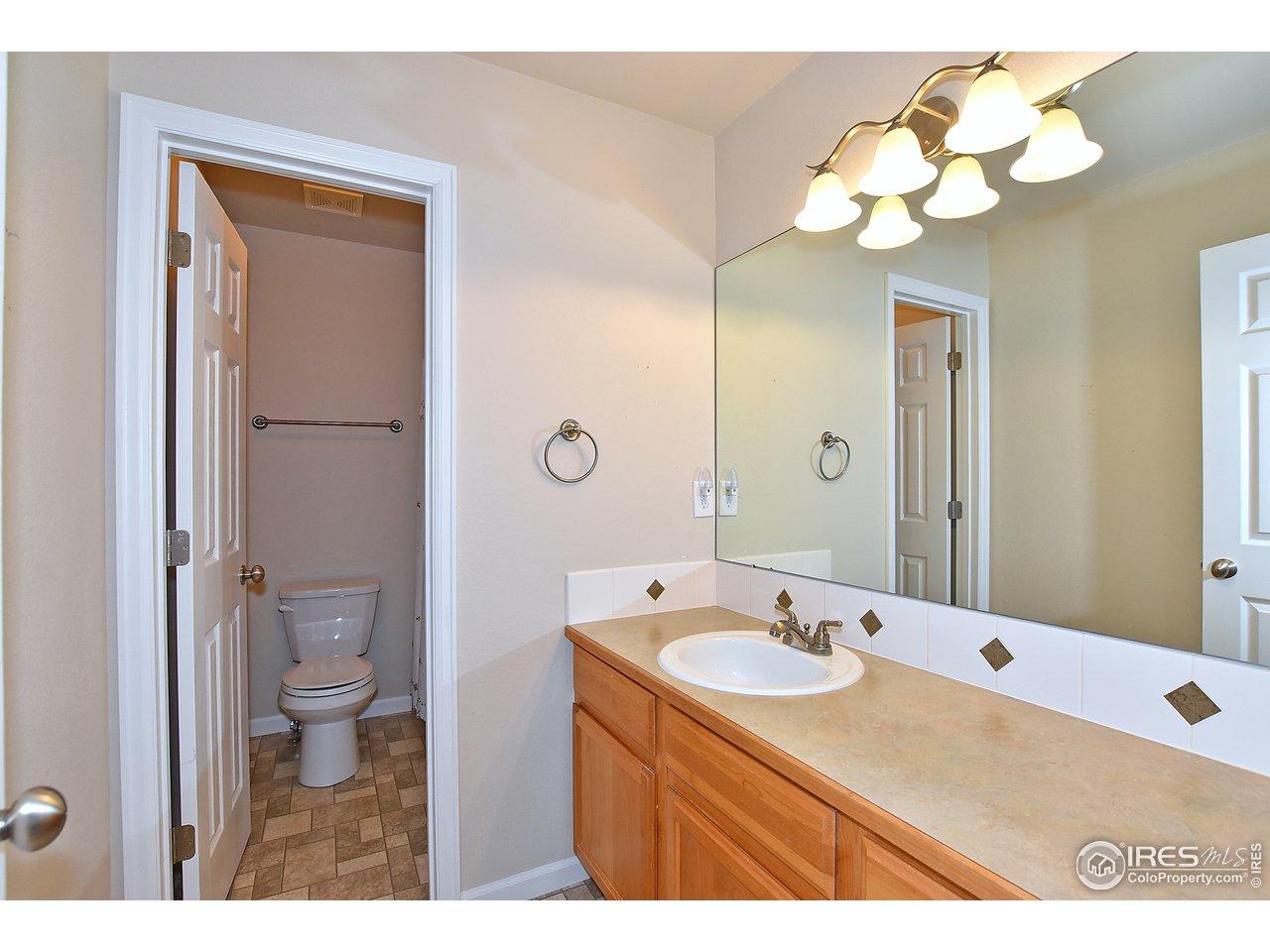 Shared full bathroom upstairs