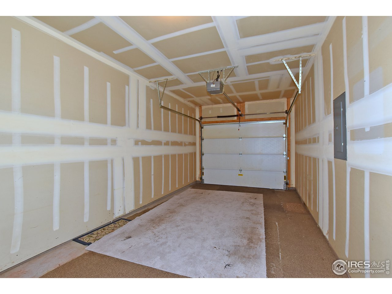 Attached single car garage