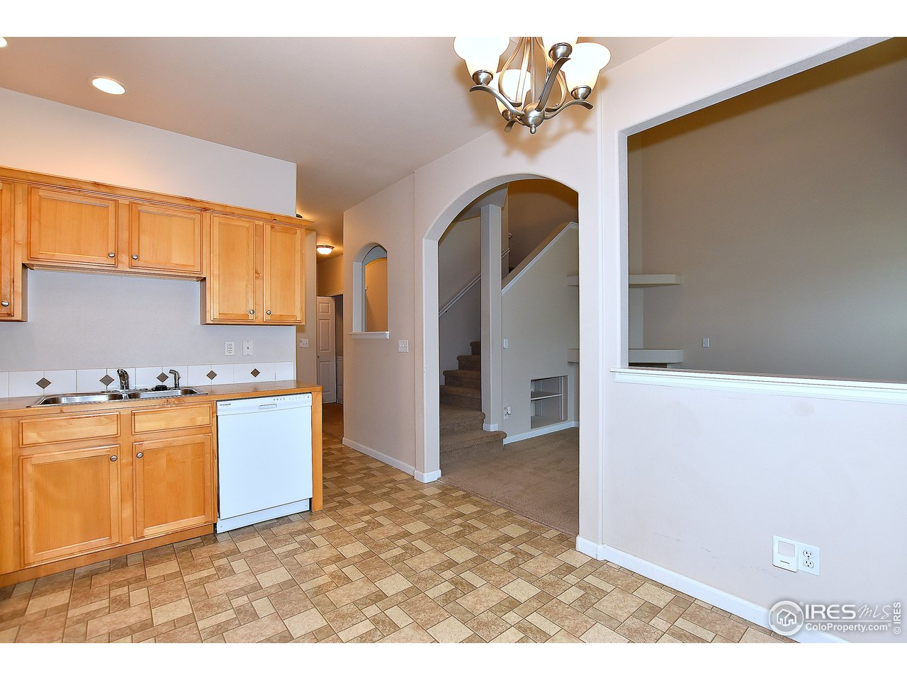 Expansive kitchen open to great room
