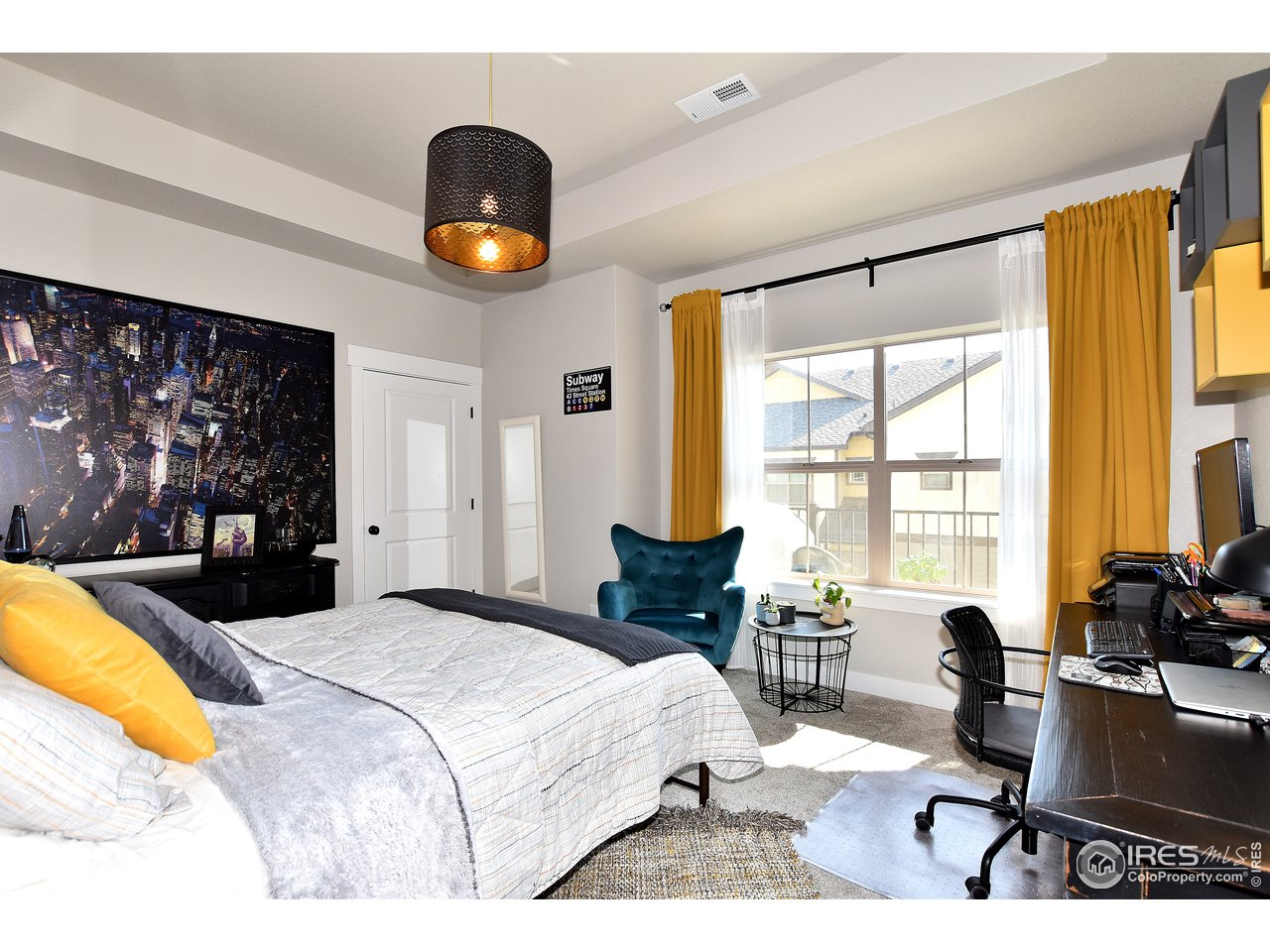 This secondary bedroom is huge!