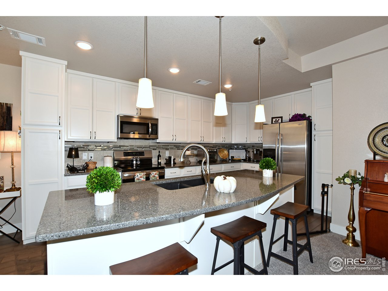 Dual pantries and loads of cabinets and counter space!