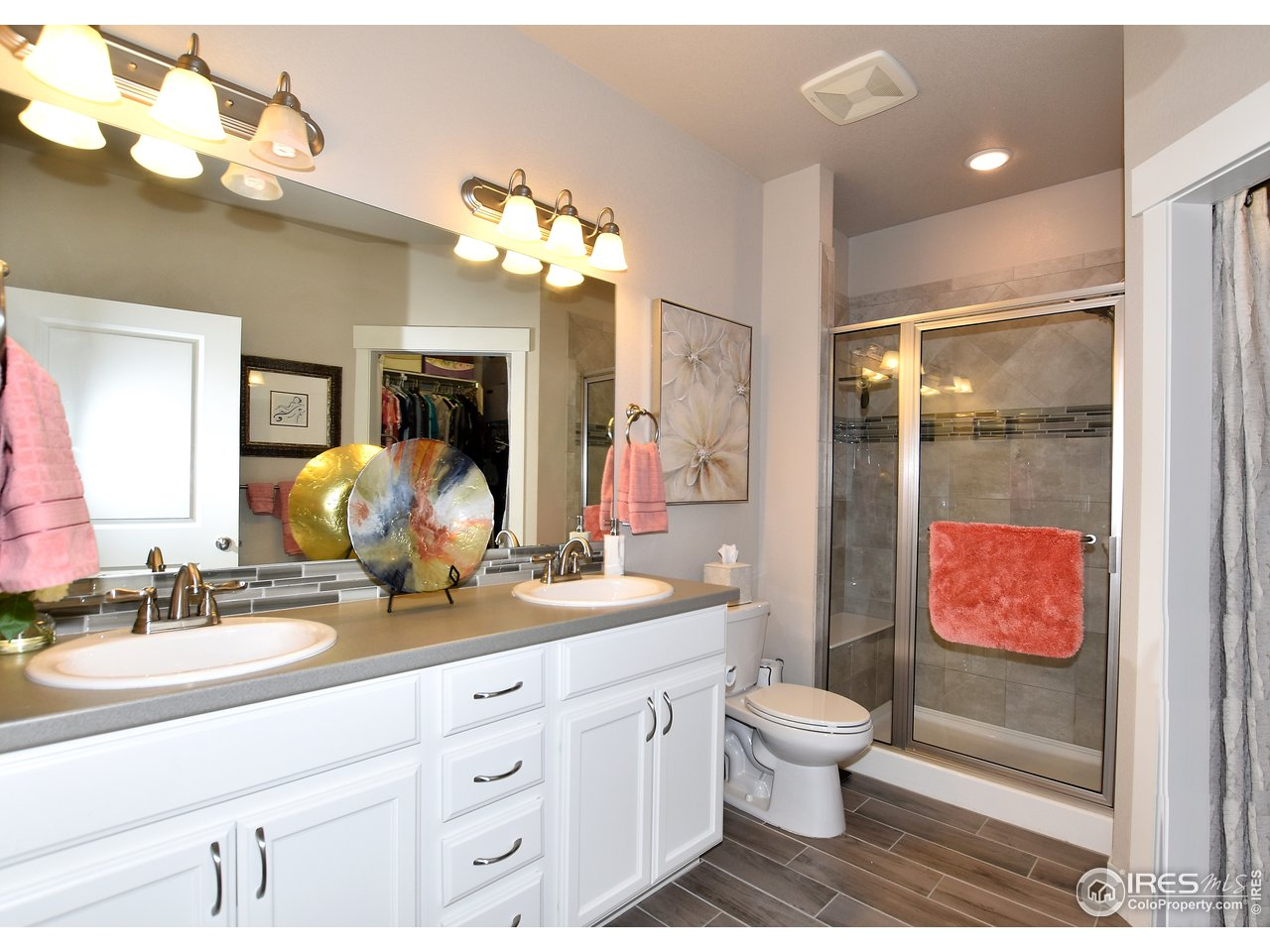 Spacious master ensuite with large shower and upgraded sliding shower head