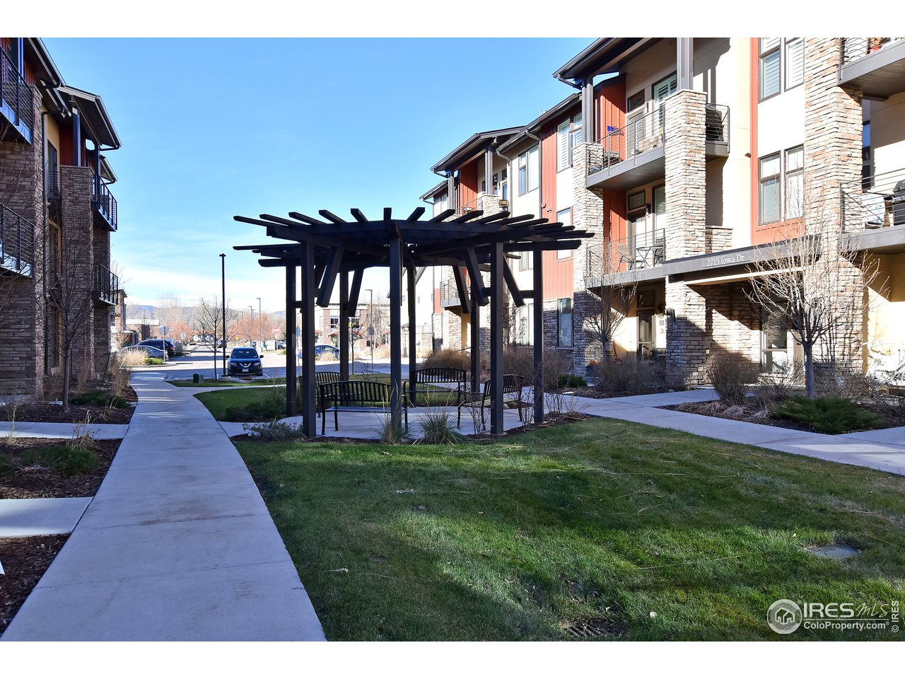 Overlooking gazebo and ample parking throughout the complex