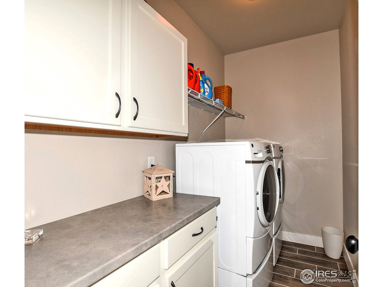 Spacious upstairs laundry conveniently located and washer/dryer stay with the home!