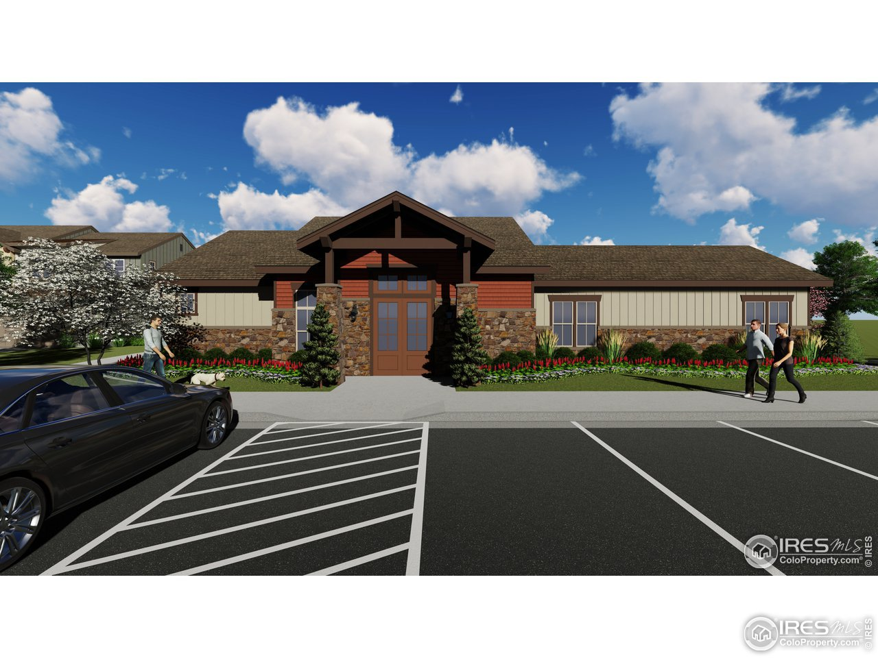Rendering of new clubhouse specific to the La Riva community.