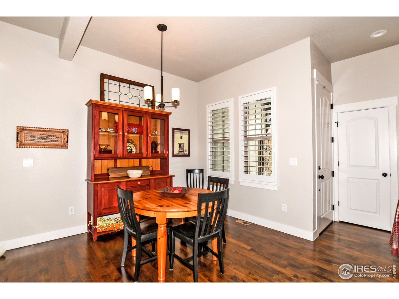 Spacious dining room right off of kitchen and great room